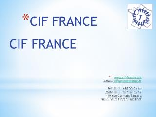 CIF FRANCE