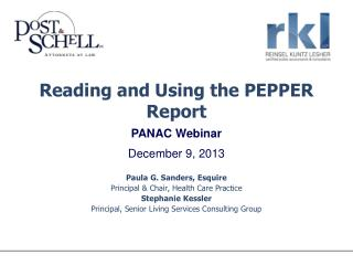 Reading and Using the PEPPER Report