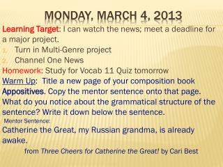 Monday, March 4, 2013
