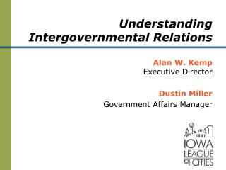 Understanding Intergovernmental Relations