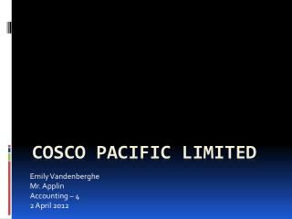 Cosco Pacific Limited