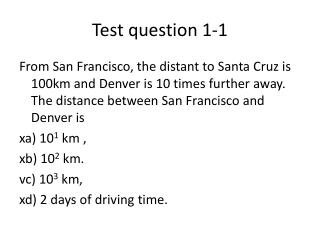 Test question 1 -1