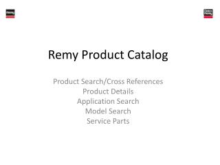 Remy Product Catalog