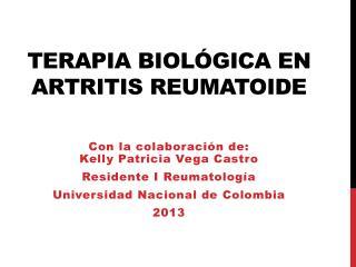 Terapia biológica en  artritis reumatoide