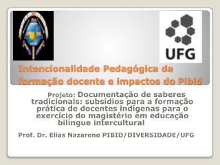 Intencionalidade Pedagógica da formação docente e impactos do  Pibid 