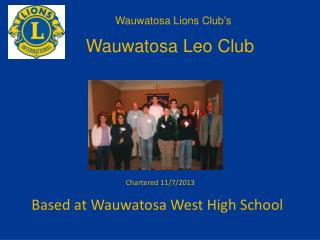 Based at Wauwatosa West High School