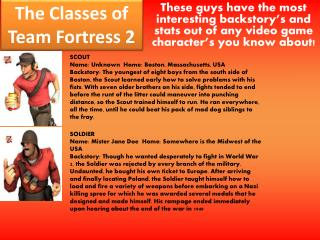 The Classes of Team Fortress 2