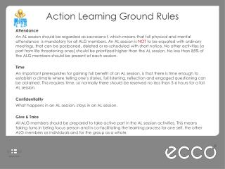 Action Learning Ground Rules Attendance
