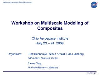 Workshop on Multiscale Modeling of Composites