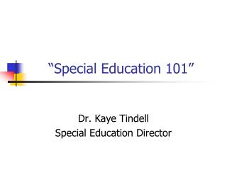 """Special Education 101"""