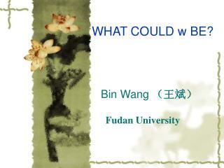Bin Wang   Fudan University