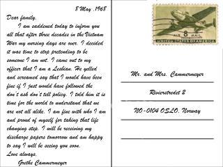 8 May ,1968  Dear family,