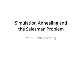 Simulation Annealing and the Salesman Problem