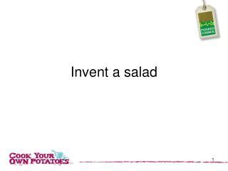 Invent a salad