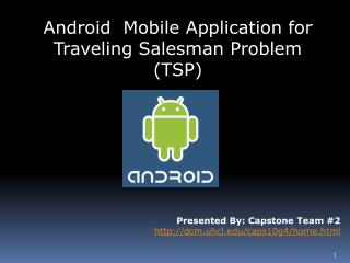 Android  Mobile Application for Traveling Salesman Problem (TSP)