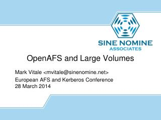 OpenAFS  and Large Volumes