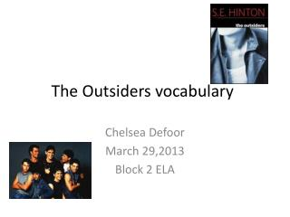 The Outsiders vocabulary