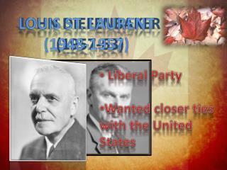 JOHN DIEFENBAKER (1957-63)