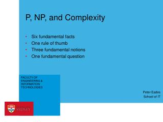 P, NP, and Complexity