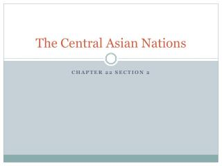 The Central Asian Nations