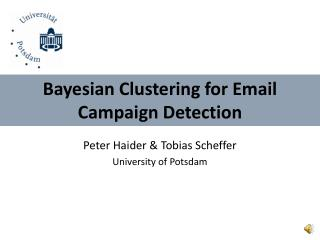 Bayesian Clustering for Email Campaign Detection