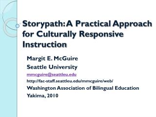 Storypath: A Practical Approach for Culturally Responsive Instruction
