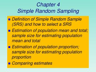 Chapter 4 Simple Random Sampling