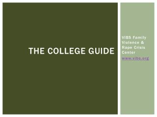 The college guide