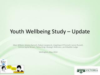 Youth Wellbeing Study – Update