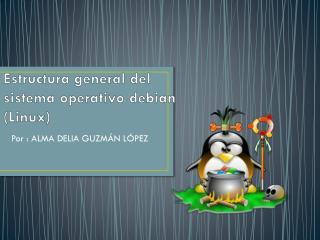 Estructura general del sistema  operativo debian (Linux)