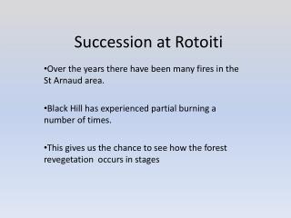 Succession at Rotoiti