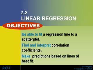 2-2 LINEAR REGRESSION