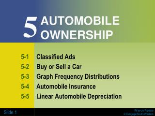 AUTOMOBILE OWNERSHIP
