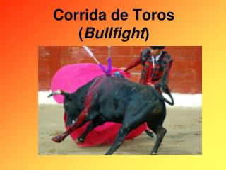 Bullfighting PowerPoint
