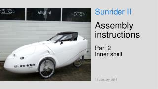 Assembly instructions Part 2 Inner shell