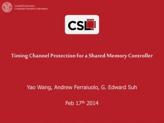 Timing Channel Protection for a Shared Memory Controller