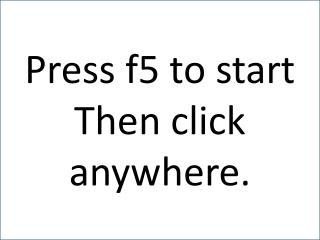 Press f5 to start Then click anywhere.