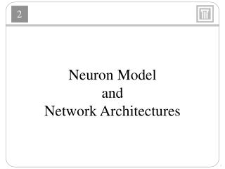 Neuron Model and Network Architectures