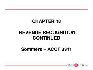 Chapter 7   CASH AND RECEIVABLES  Sommers   ACCT 3311