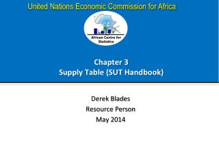 Chapter 3 Supply Table (SUT Handbook)