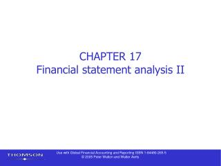 CHAPTER 17 Financial statement analysis II