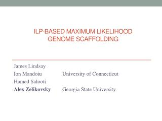 ILP-based maximum likelihood  genome scaffolding