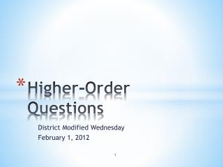 Higher-Order Questions