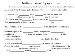 Zeus  is king of the Olympian gods. He married his ________ and overthrew his _________.