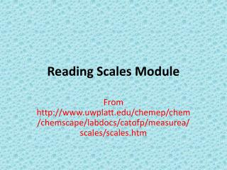 Reading Scales Module