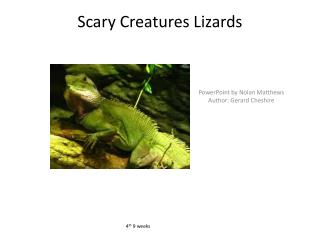 Scary Creatures Lizards