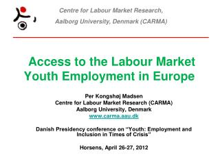Access to the Labour Market  Youth Employment in Europe