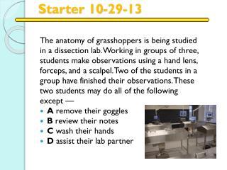Starter 10-29-13
