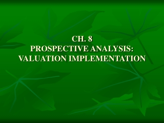 Valuation Implementation