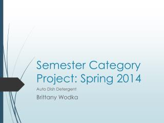 Semester Category Project: Spring 2014